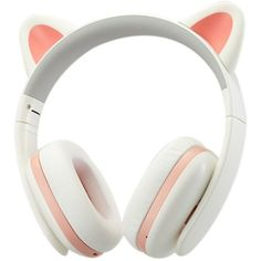 TopSun Music Headset Headphone Creative Cat Ear Stereo Over-ear Game... (175 BGN) ❤ liked on Polyvore featuring accessories and tech accessories