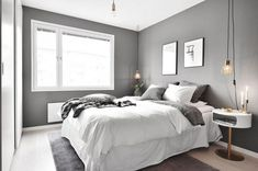 Savvy and Inspiring masculine bedroom wall colors just on home design ideas site Neutral Bedrooms, Gray Bedroom, Bedroom Wall, Master Bedroom, Bedroom Decor, Zen Room, Room Ideas Bedroom, Bed Sizes, Apartment Design