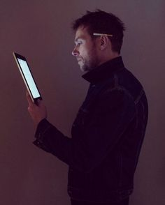 Damon and his iPad....