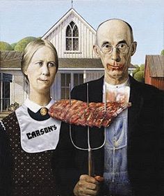 A collection of American Gothic (by Grant Wood) Parodies