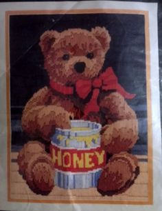 Honey Bear Longstitch Needlepoint Kit Horizons Vintage 1986