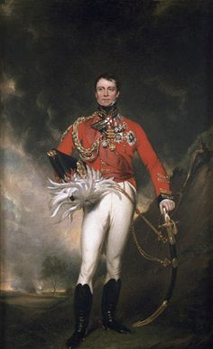 Major-General Sir James Kempt (1764-1854), unknown artist, 1824.   This is the man who took over the 5th Division when Picton was shot through the head at Waterloo.