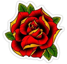 Neo Traditional Roses, Traditional Rose Tattoos, American Traditional Rose, Flower Tattoo Designs, Flower Tattoos, Tattoo Roses, Tattoo Ink, Yellow Rose Tattoos, Tatto Old