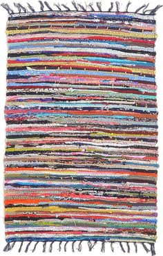 rag rug   oh how the vacuum would catch those ties that stuck out on the ends!!!