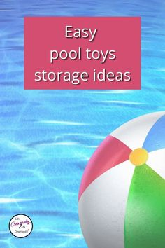 Looking for pool storage ideas? It's hot! If you have a pool, I bet it's getting a lot of use now. Here are awesome pool storage ideas to keep it organized! Storage Organization, Storage Ideas, Organizing, Pool Toy Storage, Above Ground Pool Landscaping, Pool Hacks, Long Term Food Storage, Backyard Farming, Pool Toys