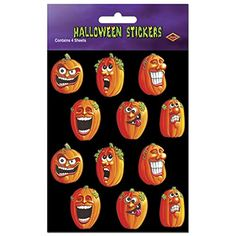 Club Pack of 48 Wacky Jack-O-Lantern Halloween Stickers 7.5 @ niftywarehouse.com #NiftyWarehouse #Halloween #Scary #Fun #Ideas