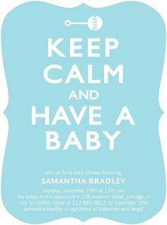 Regal Rattle - Baby Shower Invitations - Ann Kelle - Spa - Blue : Front