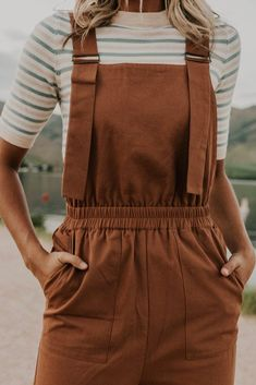 The Kennidee Jumpsuit - - Cotton Overalls – Women's Trendy Clothing Stylish Clothes For Girls, Cute Clothes For Women, Stylish Outfits, Cute Outfits, Trendy Clothing, Colorful Clothes, Formal Outfits, Pretty Clothes, Stylish Girl