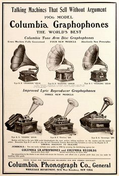 The Antique Phonograph Gallery • 1906 Columbia Graphophone Models