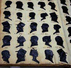 quaker silhouettes | Clarissa draws her scissors from the case,
