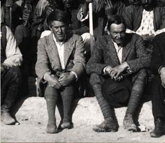 Sir Leonard Woolley (right) and T.E.Lawrence at the British Museum's Excavations at Karkamış (Carchemish), Spring 1913.