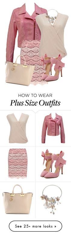 """""""From You to Me, Pinky Lee"""" by toots2271 on Polyvore featuring Versace, Manon Baptiste, Wallis, AeraVida and Sophie Hulme"""