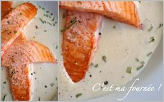 This is my batch: Poached Salmon champagne sauce Poached Salmon, Baked Salmon, Sauce Champagne, Fish And Chicken, Cantaloupe, Seafood, Veggies, Blog, Appetizers