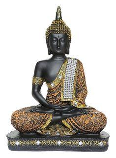 Fengshui Thai lord Buddha Handcrafted Meditating Polyresin Buddha Home/office/table decor idol/Buddha Statue/Figurine/Sculpture Indian - Buda Buddha Idol, Buddha Gifts, Home Office Table, Office Decor, Sitting Buddha, Buddha Sculpture, Perfect Peace, Buddha Meditation, Lord Ganesha