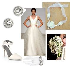 A fashion look from March 2014 featuring pointy toe ankle strap pumps, sparkling jewellery and silver cuff bangle bracelet. Browse and shop related looks. Soutache Jewelry, Bangle Bracelets, One Shoulder Wedding Dress, Fashion Looks, Bride, Crystals, Wedding Dresses, Womens Fashion, Polyvore