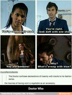Doctor Who ten David Tennant you're mad confused with fashion sense