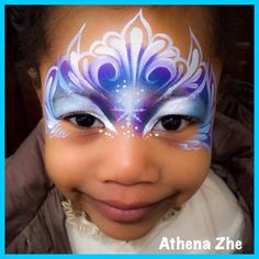 I'm always telling painters they don't have to follow the sponging. This gorgeous mask from Athena is a great example of that. Love the lighter eyes too.