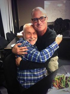 George Eads and Robert David Hall. This is adorable!