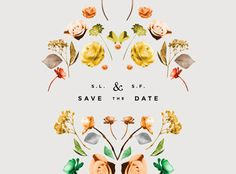 save the date | florals