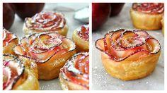 Sladký dezert by měl být nejen dobrý, ale také by měl pokud možno krásně vypadat. Tyhle růžičky z jablek jsou přesně takové a zvládne je i ten, kdo jinak moučníky moc nepeče.