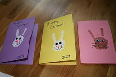 Handprint Easter bunny cards!
