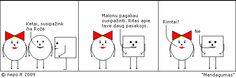 Mandagumas - Keturkampis apskritimas lietuviški komiksai