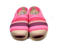 Haflinger Grizzly Stripes Paprika Shoegarden | Haflinger Shoes, Slippers and Clogs.