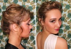 10 Updo Ideas for Girls With Short Hair via Brit + Co.