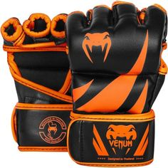 Guantilla MMA Venum Challeger Black Orange - €47.00   https://soloartesmarciales.com    #ArtesMarciales #Taekwondo #Karate #Judo #Hapkido #jiujitsu #BJJ #Boxeo #Aikido #Sambo #MMA #Ninjutsu #Protec #Adidas #Daedo #Mizuno #Rudeboys #KrAvMaga #Venum