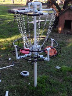 Homemade PVC Basket www.zendiscgolf.com