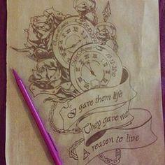 Tattoo idea kids time.born
