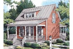 Affordable country style with three bedrooms...what's not to love? Plan HWEPL63351 also has some surprising amenities like a snack bar in the open kitchen and lots of storage upstairs.