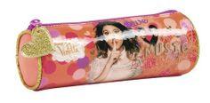Portatodo redondo de Violetta Love, la nueva colección de papelería escolar para niñas inspirada en la serie argentina del momento que está triunfando en todo el mundo. Dimensiones: 20 cm x 7 cm.