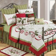 Shop for Holiday Garland Cotton Quilt and more for everyday discount prices at Overstock.com - Your Online Fashion Bedding Store!