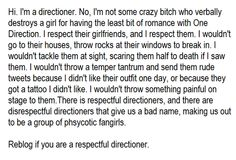 Respectful directioner right here:)