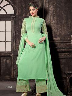 #Designer Staright Suits#Green #Indian Wear#Desi Fashion #Natasha Couture#Indian Ethnic Wear# Salwar Kameez#Indian Suit#Pakastani Suits#Palazoo Suit