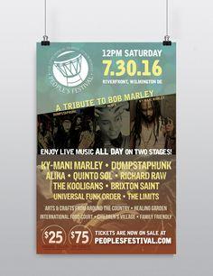 Custom poster for music festival