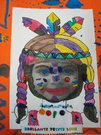 """een foto van het kind en dan versieren en """"omtoveren"""" tot indiaan/indiaanse"""