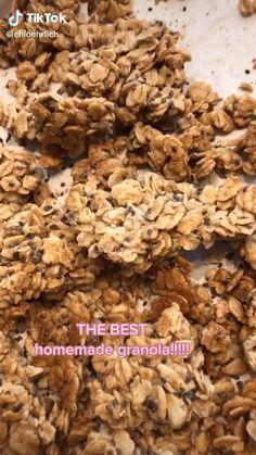 Healthy Sweets, Healthy Breakfast Recipes, Healthy Baking, Healthy Snacks, Vegetarian Recipes, Cooking Recipes, Healthy Recipes, Snacks Saludables, High Protein Granola Recipe