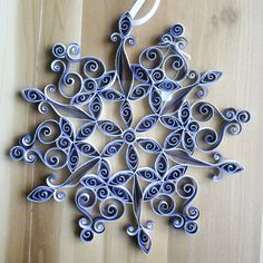 Paper quilling Quilled Snowflake Holiday by QuintQuilling on Etsy