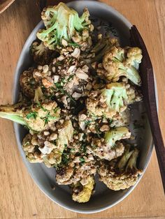 Roasted Cauliflower: Kluwak tahini, cashew Open Air Restaurant, Main Dishes, Side Dishes, Grilled Octopus, Sustainable Seafood, Wood Fired Oven, Aromatic Herbs, Spiced Rum, Roasted Cauliflower