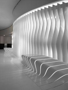 Futuristic Interior, Corian surfaces, Modern Interior, Futuristic Design, Futuristic Furniture, White Interior, Futuristic Architecture by FuturisticNews.com