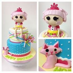 #lalaoopsy #birthdaycake with sparkle jewel and her kitty. | Flickr – Condivisione di foto!