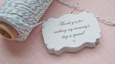 Baby Shower Gift Tags-Baby Shower Paper Goods-Thank You Tags- Due For Delivery-Baby Established-Customized Favor Tags-Gift Tags-Set of 40