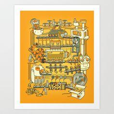 Meow Remix Art Print by Kat Mc-Moon-ald - $15.00