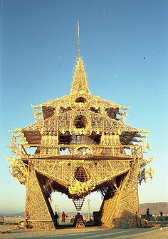 Temple of Joy – Burning Man, 2002  (This was awe-inspiring and somewhere in this temple created in Black Rock City is a personal message I wrote, and celebrated its burning the next evening)