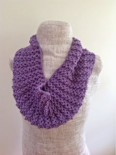 It's never too early or too late to learn how to knit a scarf. With the Lacy Lavender Cowl you get a fashionable knit that will keep you in style from January to December. Employing simple knitting techniques, this scarf knitting pattern can be taken up by knitters of all skill levels, and it doesn't even take long to complete.