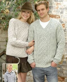 Hayfield aran jumpers. I'd really like an aran jumper.. Easy free download. Jumper Knitting Pattern, Jumper Patterns, Knitting Patterns Free, Knit Patterns, Free Knitting, Free Pattern, Knitting Yarn, Knitting Sweaters, Knitting Needles