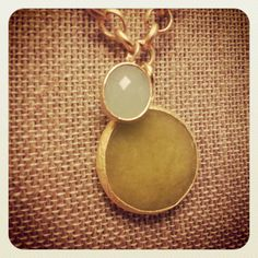 Jade necklace. by houndstoothandnail on Etsy, $42.00