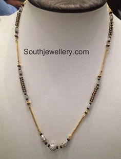 gold mangalsutra with earrings
